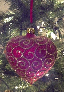 Heart Shaped Christmas Ornament
